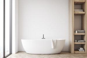 La baignoire combine le confort et l'esthétisme puisqu'elle est parfaite pour vous relaxer ou donner un bain à vos enfants.